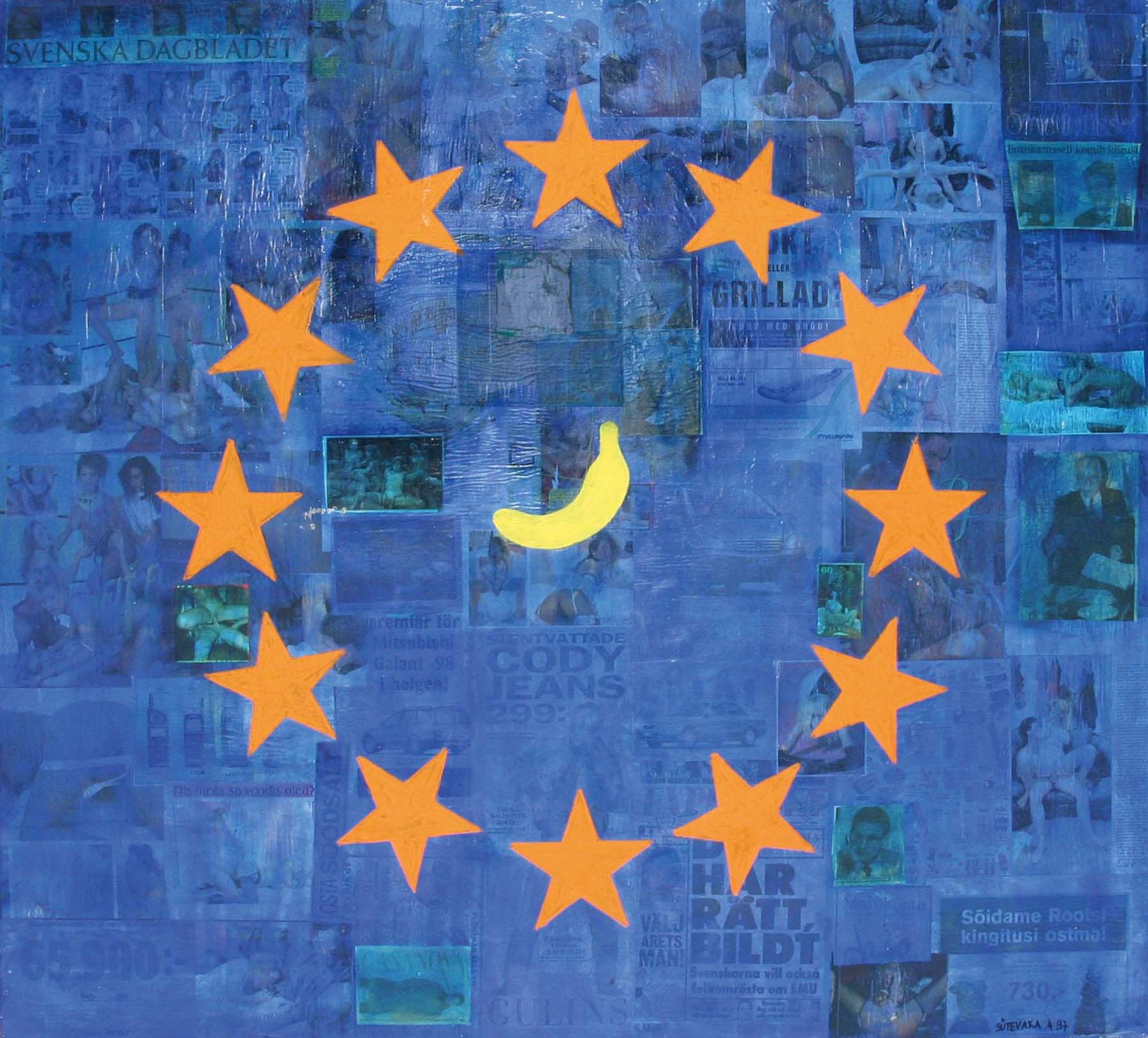 Euroopa_liit_nagu_kärbsed_sitahunniku_otsas_Banaan_1997